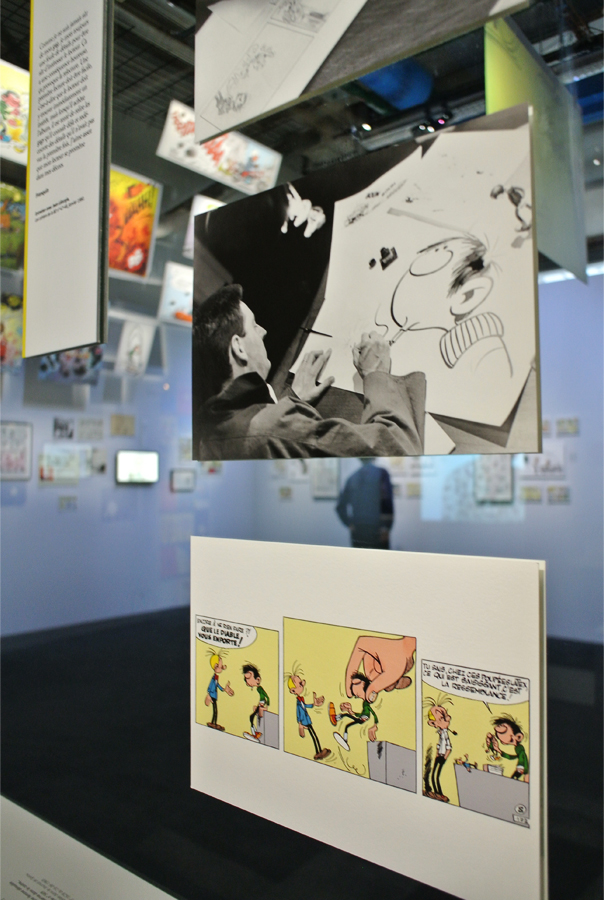 Exposition Gaston Lagaffe, Centre G.Pompidou Paris